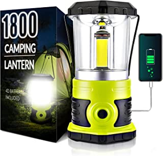 چراغ کمپینگ LED قابل شارژ Anhay ، 1800 لومن ، 4 حالت روشن ، IPX44 ضد آب ، لامپ کمپینگ فوق العاده روشن با پاور بانک 4600 میلی آمپر ساعت