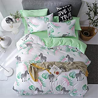 YYSZM Bedding Set Duvet Cover Single Double King Queen Family Size Bedclothes A 180x220cm/71x87in