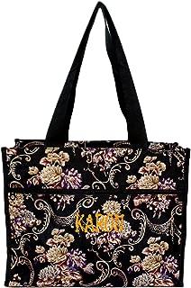 Medium Fashion Print Zipper Top Tote Bag