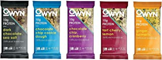 OWYN 100% Vegan Plant-Based Protein Bars, 5 Flavor Variety Pack, 1.76 oz (Pack of 10)