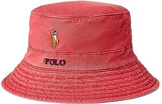قبعة Polo Ralph Lauren للرجال مصنوعة من نسيج قطني مضلع