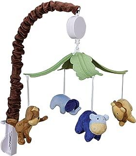 Trend Lab Plush Jungle Animals Musical Crib Mobile, Baby Mobile, Green Safari Animal Nursery Decor