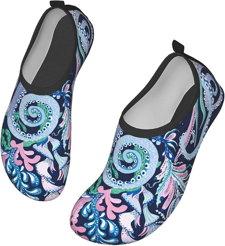 Octopus Water Sports Shoes Barefoot Quick-Dry Aqua Yoga Socks Beach Swim Sports Surf Yoga Exercise for Unisex