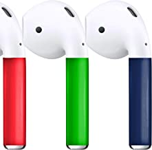 AirPod Skins Protective Wraps - Three-Color Packs - Stylish Covers for Protection & Customization, Compatible with Apple AirPods (Red, Green, Midnight Blue)