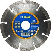 S&R Disque diamant 125 à Béton. Meule à tronçonner standard soudé au laser. Universel pour Béton, Pierre, Brique et matériaux de construction (125 x 22,2)