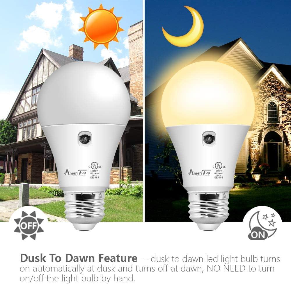 22 Dusk to Dawn Light Bulb  10 Pack, AmeriTop A10 LED Sensor Light ...