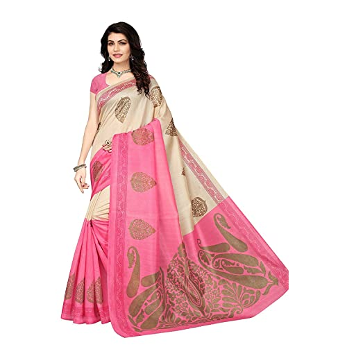 51e6457f50bb8 Saree Pink COLOUR  Buy Saree Pink COLOUR Online at Best Prices in ...