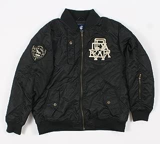 4PL235N Mens Black Varsity Jacket Size: XXlarge