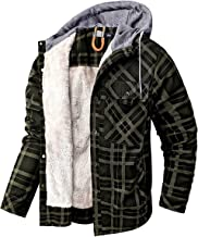 GYH Heren geruit overhemd lange mouwen bontvoering gewatteerde houthakkerhoodie flanel gewatteerde wollen jas plus size
