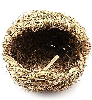 Ręcznie robione sandały ze słomy kształt gniazdo dla zwierząt domowych chomik szczur królik pantofel ze słomy trawa ciepłe...