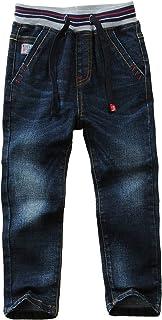 AIEOE Jeans Niño 100% Algodón Pantalones Primavera Otoño Estiramiento Cintura elástica Joggers