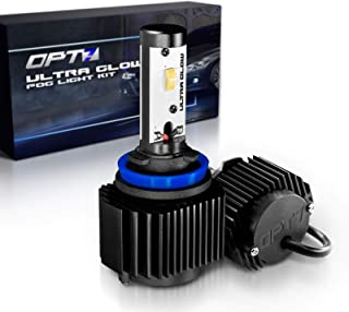 OPT7 H11 (H8 H9 H16) Ultra Glow LED Fog Light Bulbs - 10000K Rogue Blue @ 1,400 Lm per Bulb - Free Warranty (Pack of 2)