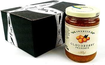 Hafi Swedish Cloudberry Preserves, 14.1 oz Jar in a BlackTie Box