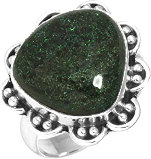 Natural Honduran Black Matrix Opal Gemstone Ring Solid 925 Sterling Silver Collectible Jewelry Size 6