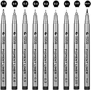 Powcan Bolígrafos De Tinta Fineliner Micro-Pen Negro-Tinta De