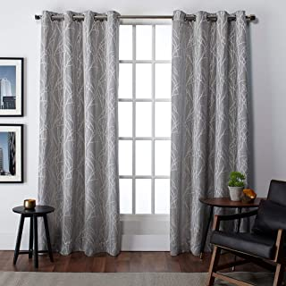 Exclusive Home Curtains Finesse Grommet Top Panel Pair, Ash Grey, 54x96, 2 Piece