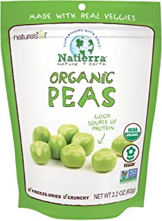 Natierra Nature's All Foods Organic Freeze-Dried Peas, 2.2 Oz
