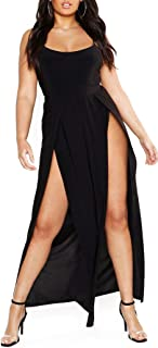 Women's Stretchy Split Maxi Long Skirt Plain Side Slit Beach Party Maxi Skirts