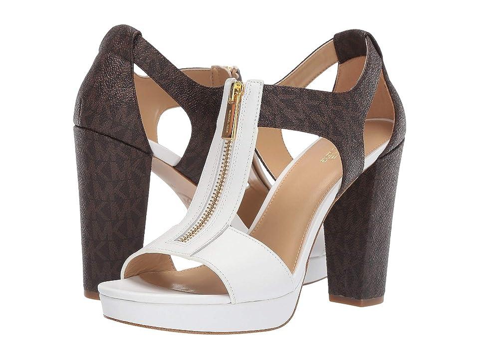 MICHAEL Michael Kors Berkley Sandal (Optic White/Brown) Women