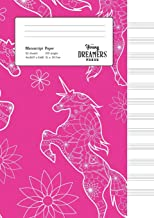 Manuscript Paper: Floral Unicorn | A4 Blank Sheet Music Notebook (3)