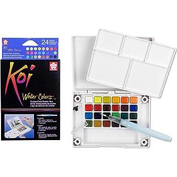 Caja de Dibujo con Acuarelas de Bolsillo, 30 Colores Variados, acrílico, Multicolor, de la Marca Sakura Koi: Amazon.es: Hogar