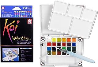 Sakura XNCW-24N، 24 مجموعه آبرنگ های آبرنگ مجموعه ای با قلم مو