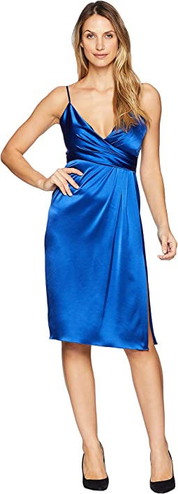 Satin Wrap Cocktail Dress