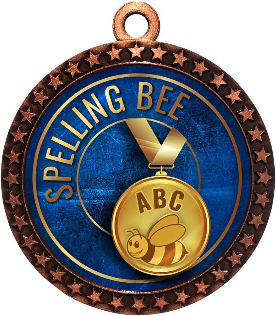 Express Medals 1 to Bombing free shipping 50 Packs Aw Bee Bronze Trophy Challenge the lowest price of Japan Spelling Medal