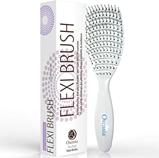Cepillo para desenredar Flex con cerdas de Nylon para el pelo – Cepillo desenredante para niños, hombre y mujer – Cepillo de pelo brillo, crecimiento y roturas – Cepillo desenredante fácil de Osensia