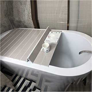 ZHANWEI 浴槽カバー 防塵ボード 風呂ふた,折りたたみ式 暖かくしてください、 ダストカバー、 バスラック バススタンド、 多機能カバー (Color : A, Size : 110x70x0.6cm)
