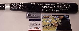Autographed Reggie Jackson Baseball Bat - PSA/DNA Certified - Autographed MLB Bats