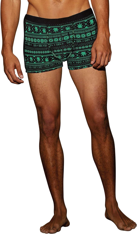High Demand Men's Jersey Knit Leaf Boxer Briefs