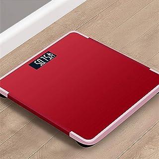 Báscula de grasa corporal para baño de piso de peso corporal Escala de vidrio inteligente inteligente balanza LCD electrónica báscula de pesaje para el hogar digital de grasa corporal escala roja