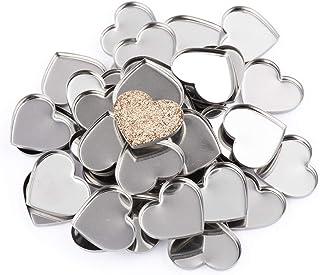Allwon 56-pack lege hartvormige metalen pannen voor oogschaduwpalet magnetisch make-uppalet