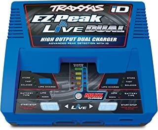 Traxxas EZ Peak Live Dual, 200W Multi-Chemistry Charger with ID, Blue 2973