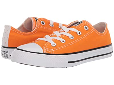 Converse Kids Chuck Taylor(r) All-Star(r) Galaxy Dust Ox (Little Kid/Big Kid) (Orange Rind/Natural Ivory/White) Girls Shoes
