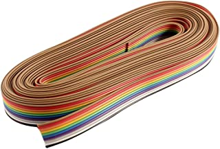 Unique India Sales 5 Meter 10 Core Rainbow Color Flat Ribbon Wire Cable (5 Meters)
