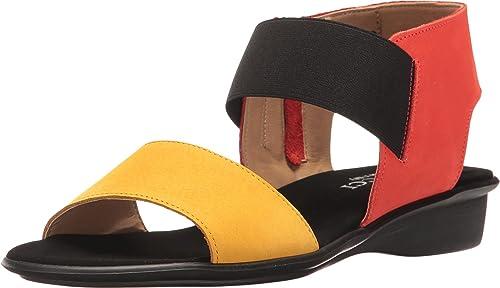 Sesto Meucci damen& 039;s Eirlys Mustard Soft Nabuk Coral Soft Nabuk schwarz Elastic 12 M US