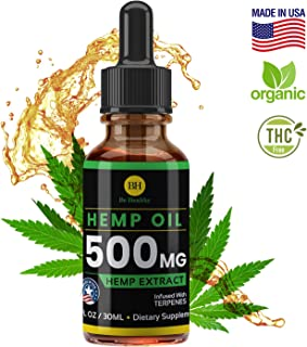 Hemp Oil for Pain & Anxiety Relief 500MG - Made in USA - Better Sleep - Anti-Inflammatory Stress - Natural Hemp Oil for Better Sleep - Pure Hemp Extract Oil - Hemp Seed Oil Organic - Joint Support
