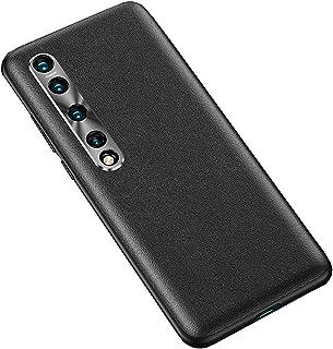 جراب XINKOE لهاتف Xiaomi Mi 10 5G، TPU + جلد + واقي كاميرا خلفية 3 في 1 مضاد للخدش ومتين لهاتف Xiaomi Mi 10 5G-Black