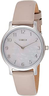 Timex Women's Quartz Watch, Analog Display and Leather Strap TW2T35900