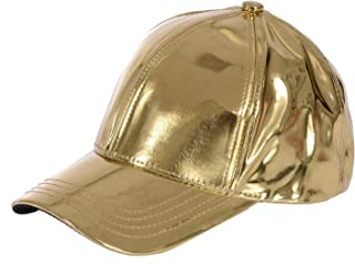 Unisex Metallic Baseball Cap with Adjustable Strap