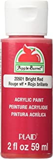 Apple Barrel Acrylic Paint in Assorted Colors (2 oz), 20501, Bright Red