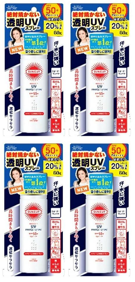 影響力のあるタックいくつかの【まとめ買い】KOSE サンカットR 日焼け止め透明スプレー 無香料×4個