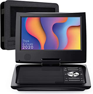 """SUNPIN 11"""" Portable DVD Player with 9.5 inch HD Swivel Screen, Dual Earphone Jack, Supports SD Card/USB/CD/DVD and Multipl..."""