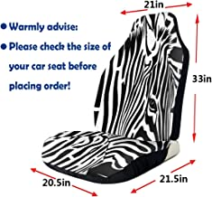 Rachel Dora Distortion Abstract Art Zebra Car Seat Covers Custom New Universal Fit Auto Drive Car Seat Protector for Women Automobile Jeep Truck SUV Vehicle Full Set Accessories for Adult Baby 2 Pack