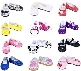 77fa384027c4 ebuddy 7pair Doll Shoes Random Diffrent Style for 18 inch Doll