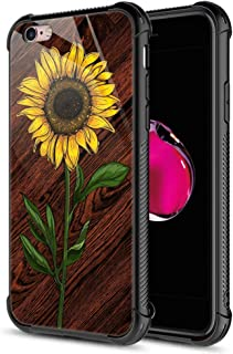 iPhone 6s Plus Case, 9H Tempered Glass Sunflower Wood iPhone 6 Plus Cases [Anti-Scratch] Fashion Cute Pattern Design Cover Case for iPhone 6/6s Plus 5.5-inch Sunflower Wood