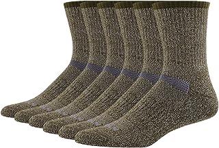 66.6% Merino Wool Hiking Socks, MEIKAN Men's Trekking Cushion Crew Socks 1, 3, 6 Pairs