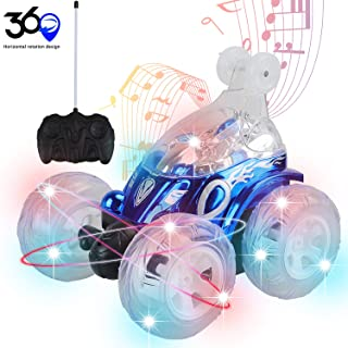 ideallife RC Cars for Kids Remote Control Car 360 Rotating 4WD Off Road Rotating Tumbling with Flashing LED Lights & Music Switch, Christmas & Birthday Gift for Kids, Boys & Girls